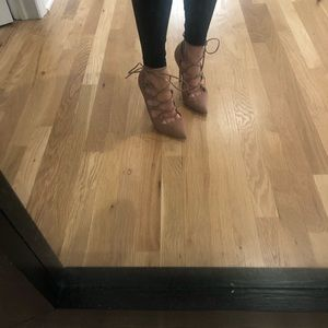 Steve Madden Tan Suede lace up heel